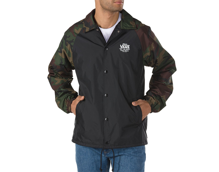 f4fa3cb1ce7ae8 Vans Torrey Coaches Jacket Black   Camo - Boardvillage
