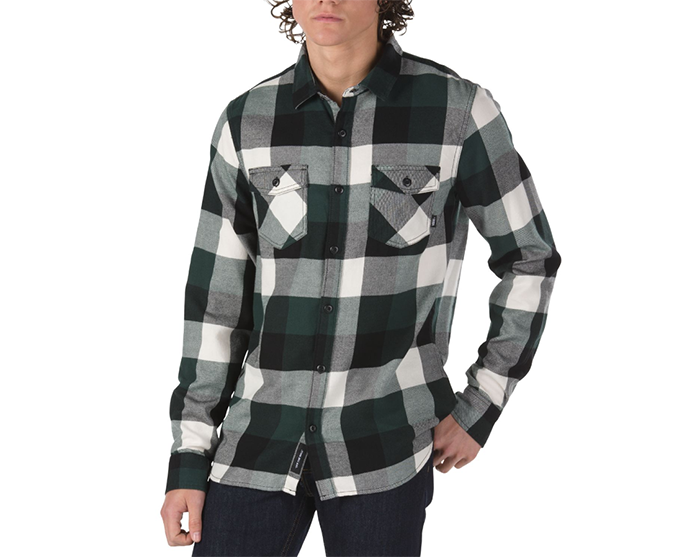 Vans Box Flannel Shirt Darkest Spruce