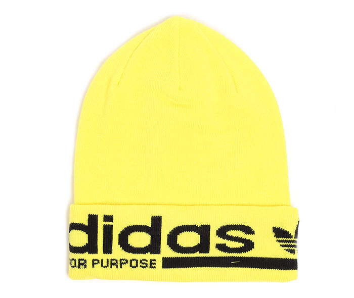 Adidas Logo Beanie Shock Yellow / Black