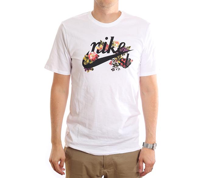 Nike SB Floral Logo Tee White / Black