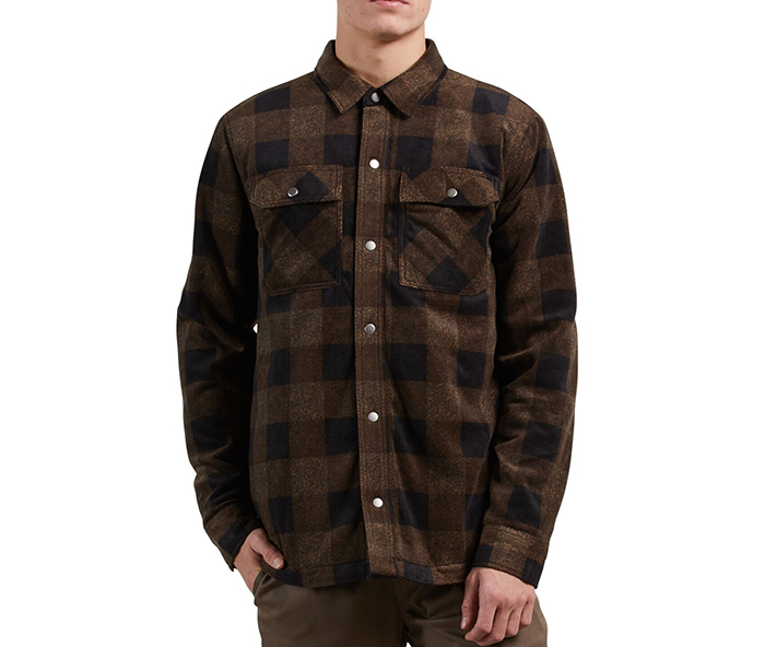 Volcom Bower Shirt Polar Fleece Old Gold