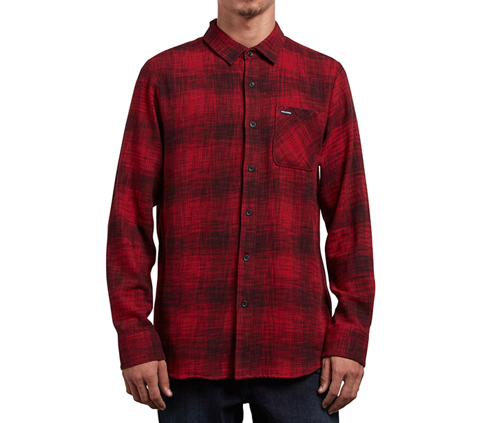 Volcom Buffalo Glitch Shirt Engine Red