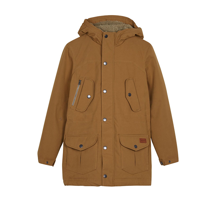 Volcom Youth Starget Parka Burnt Khaki