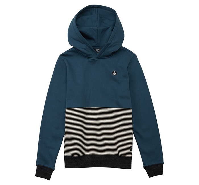 Volcom Youth Threezy P/O Hoodie Navy Green