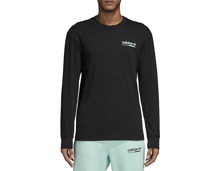 Adidas Originals Kaval Longsleeve Tee Black / Clear Mint