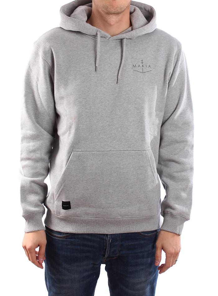 Makia Angle Hooded Sweatshirt Grey
