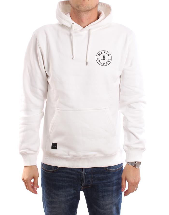 Makia Astern Hooded Sweatshirt White