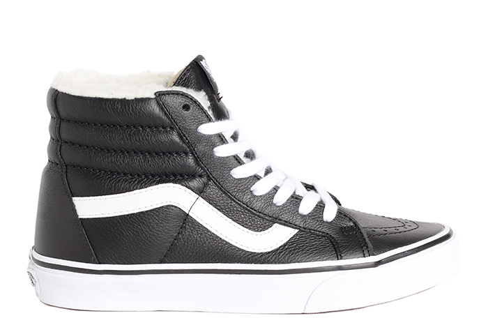 1a2e14e4185b Vans Sk8-Hi Reissue Leather Black   White - Boardvillage