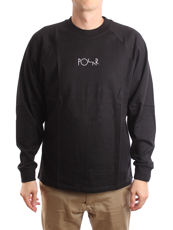 Polar Skate Co. Default Longsleeve Tee Black