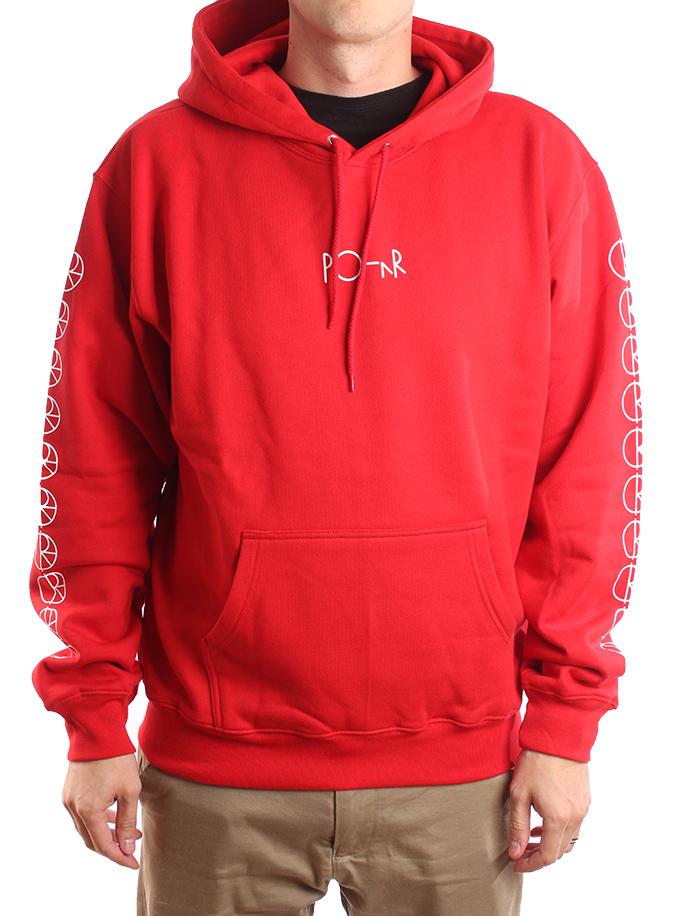 Polar Skate Co. Racing Hoodie Red