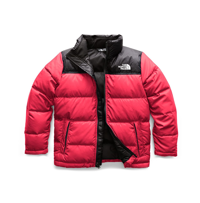 The North Face Youth Nuptse Down Jacket Red