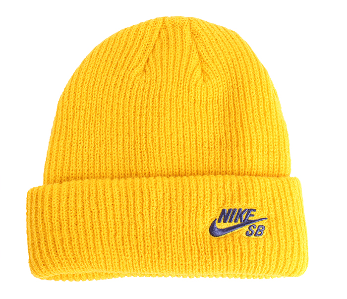Nike SB Fisherman Beanie Yellow Ochre / Blue Void
