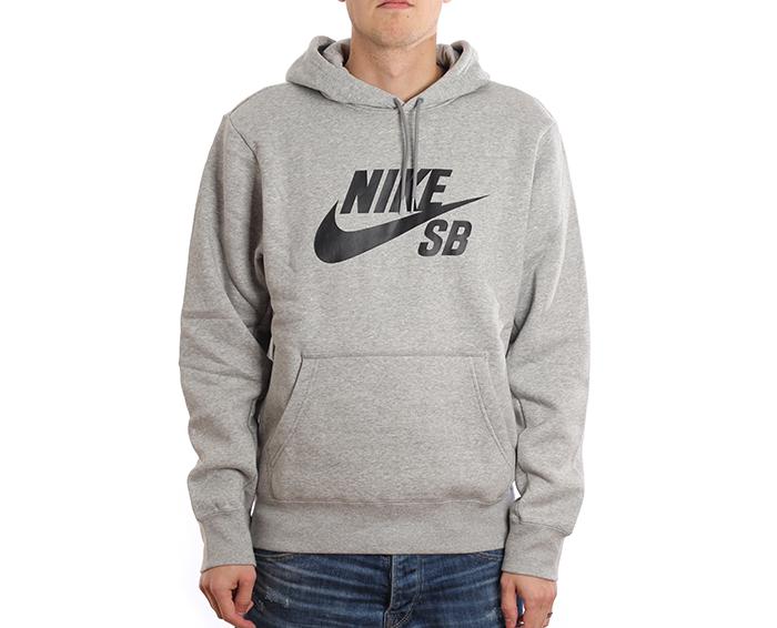 Nike SB Icon Hoodie Dark Grey Heather / Black