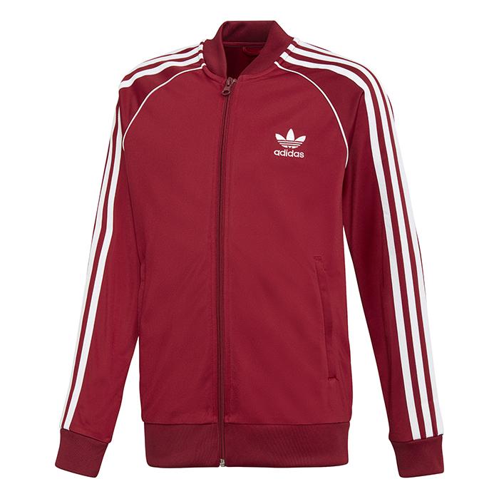 Adidas Junior SST Track Jacket Collegiate Burgundy