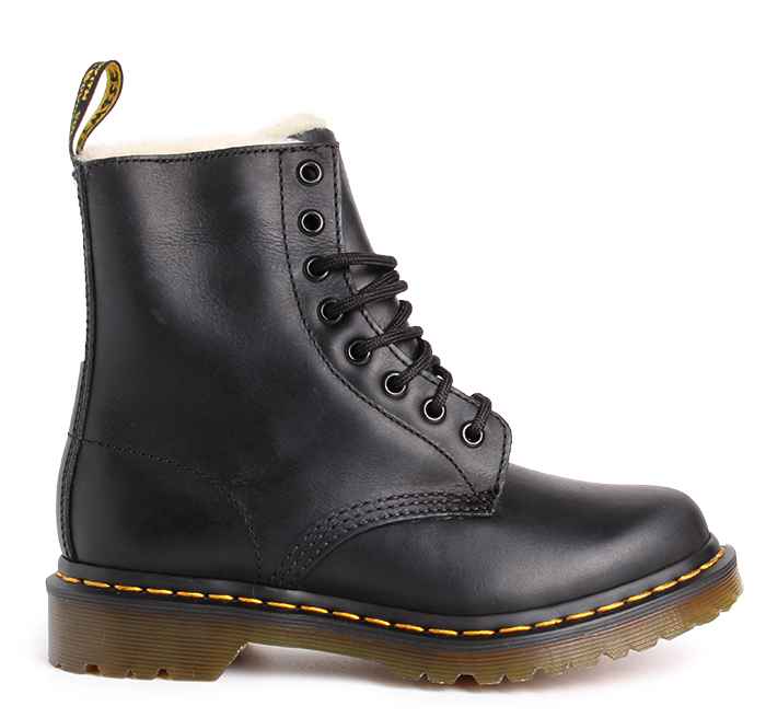 Dr. Martens 1460 Serena Fur Lined Black Burnished Wyoming