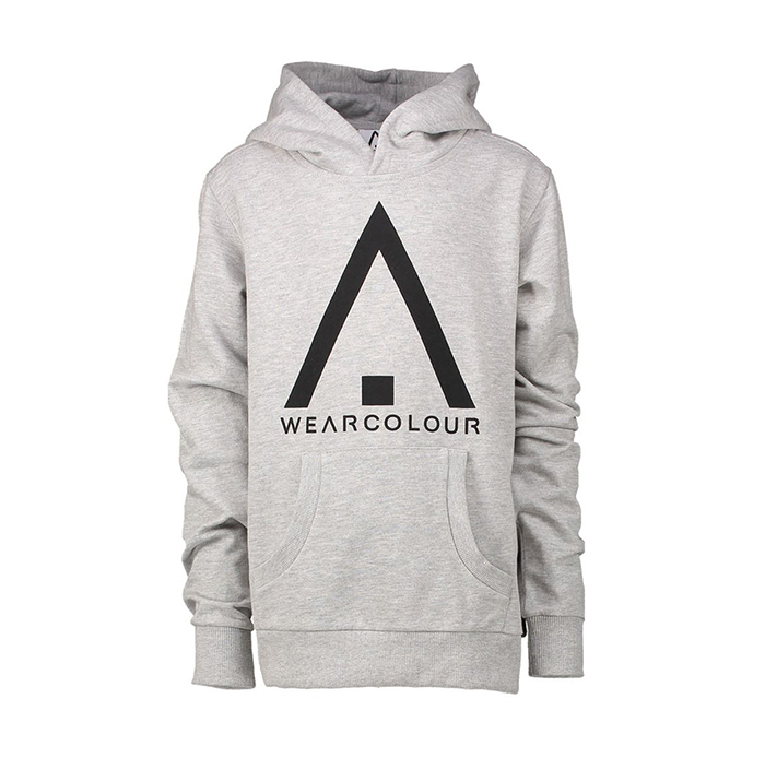 Wear Colour Youth Patch Hoodie Grey Melange