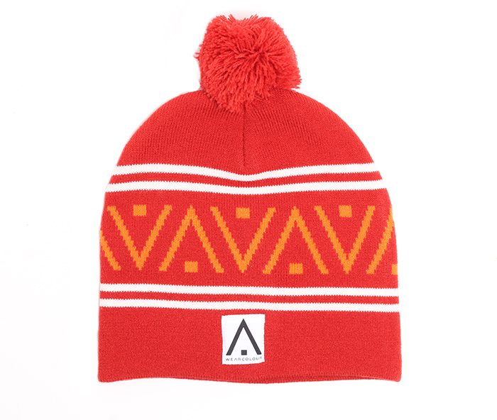 Wear Colour Knit Beanie Falu Red