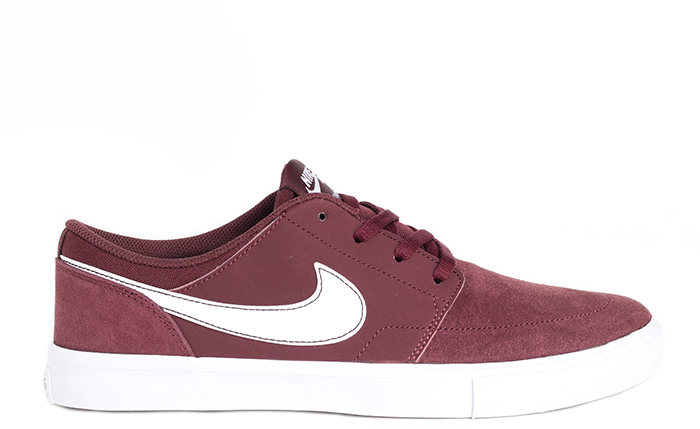 Nike SB Portmore II Solarsoft Burgundy Crush / White