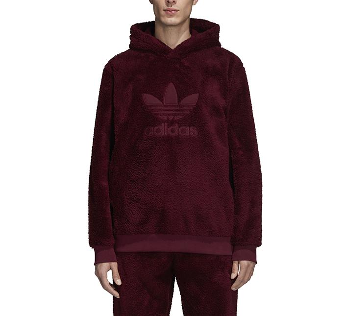 Adidas Winterized Hoodie Maroon