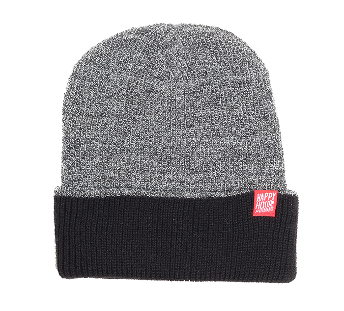 Happy Hour Two Tone Beanie Antique Grey / Black