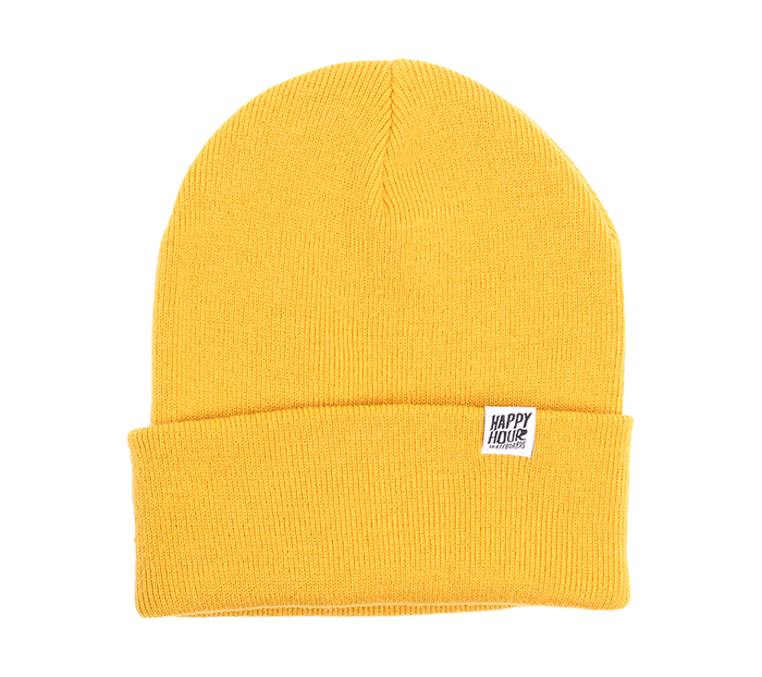 Happy Hour Beanie Mustard / White