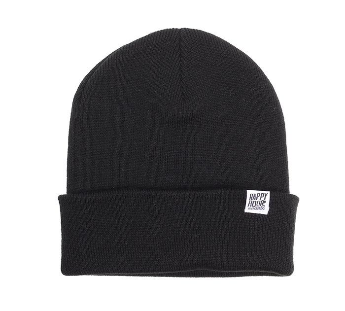 Happy Hour Beanie Black / White