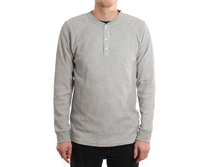 Nike SB Dri-Fit Thermal Longsleeve Henley Grey Heather