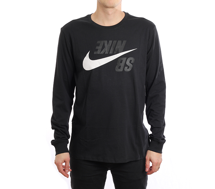 Nike SB Backwards Longsleeve Tee Black / Phantom