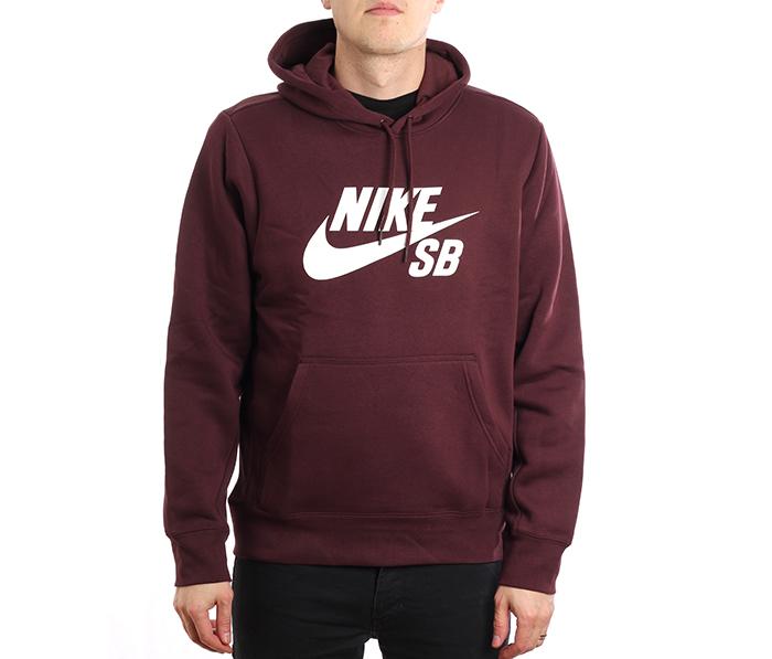 Nike SB Icon Hoodie Burgundy Crush / White
