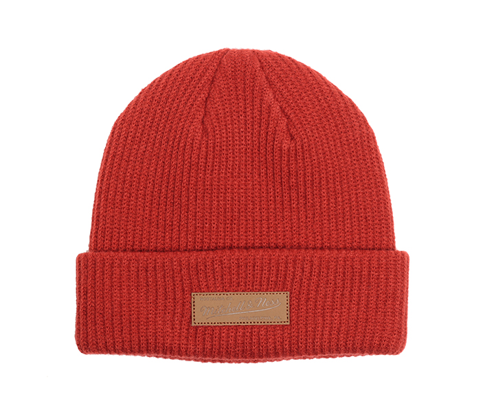 Mitchell & Ness Philly Knit Beanie Collegiate Red