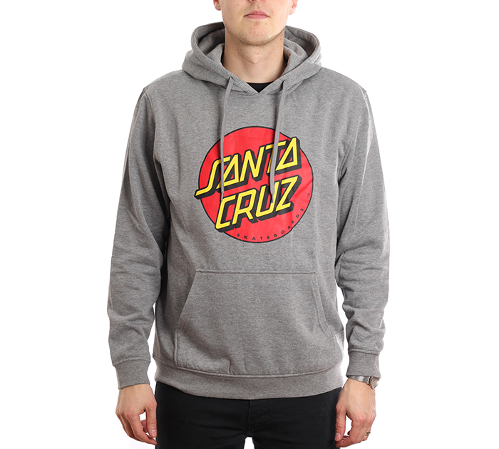 Santa Cruz Classic Dot Hoodie Dark Heather