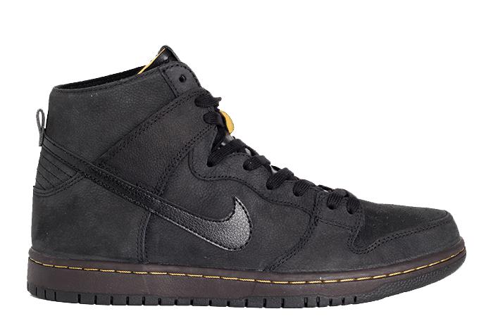 9206956c5559 Nike SB Zoom Dunk High Pro Decon PRM Black   Black-Velvet Brown ...