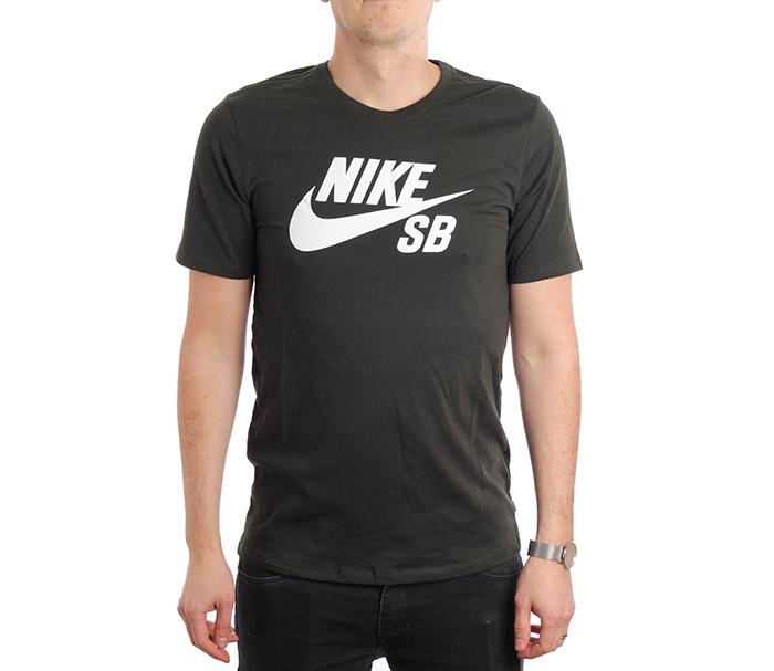 Nike SB Logo Tee Sequoia / White
