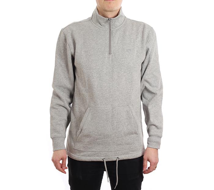 Vans Versa Quarter Zip Sweater Cement Heather - Boardvillage b73206fa4