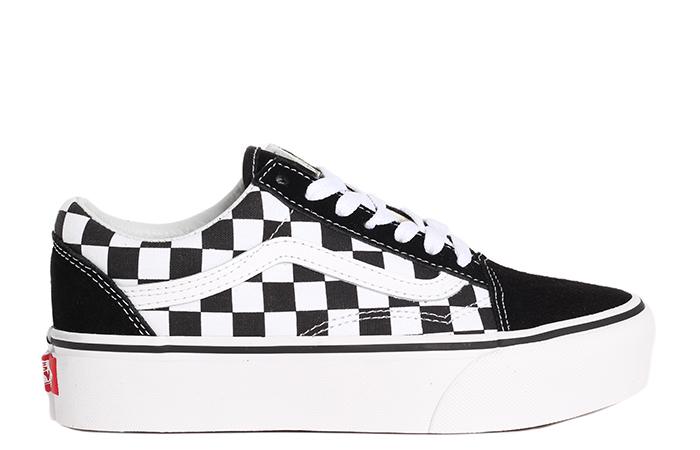 Vans Old Skool Platform Checkerboard Black / White