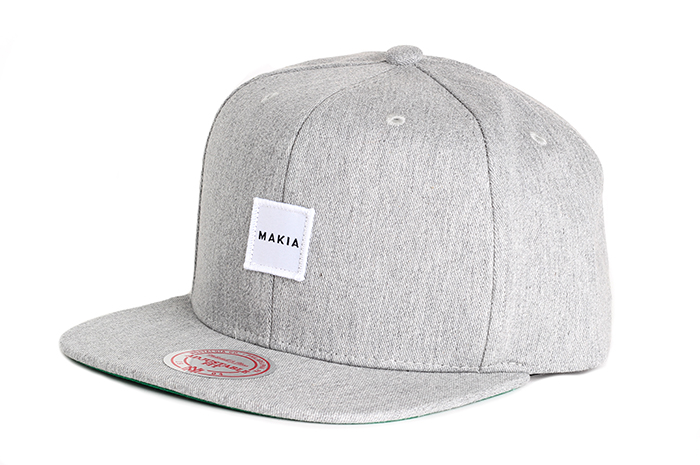 Makia Square Snapback Grey
