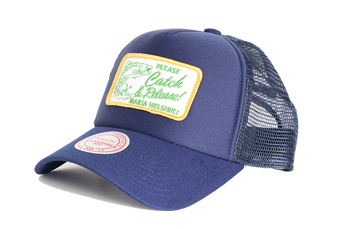 Makia Catch Trucker Cap Navy