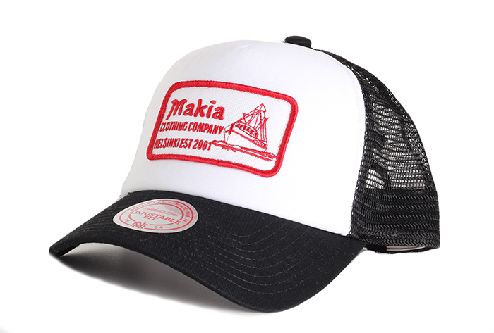 Makia Fast Trucker Cap Black / White
