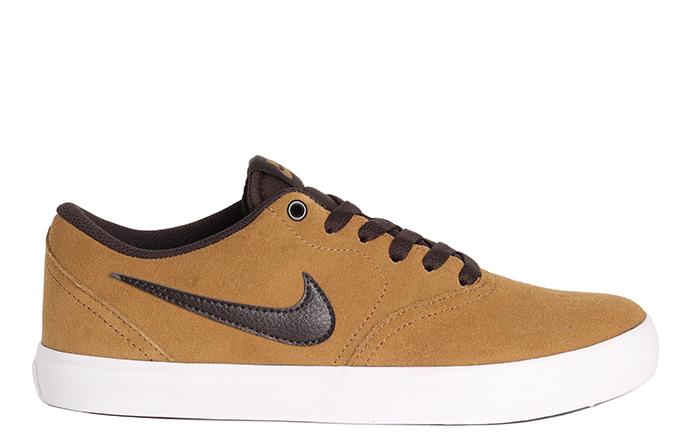 Nike SB Check Solarsoft Golden Beige / Velvet Brown - White ...