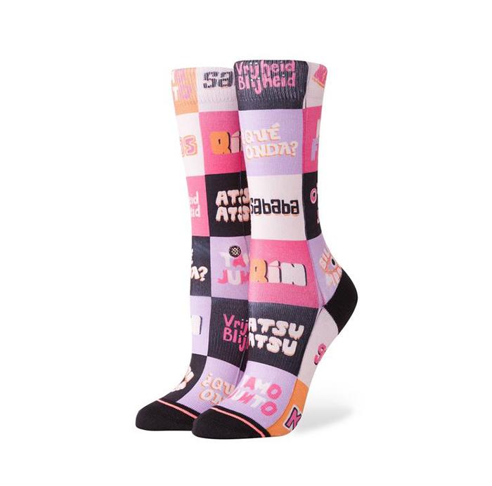 Stance Womens New Slang Crew Socks Multi