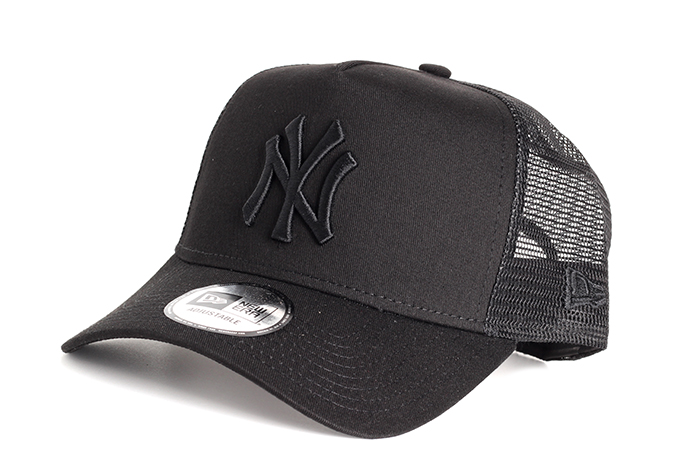 62558dada New Era NY Yankees Clean A Frame Trucker Black / Black ...