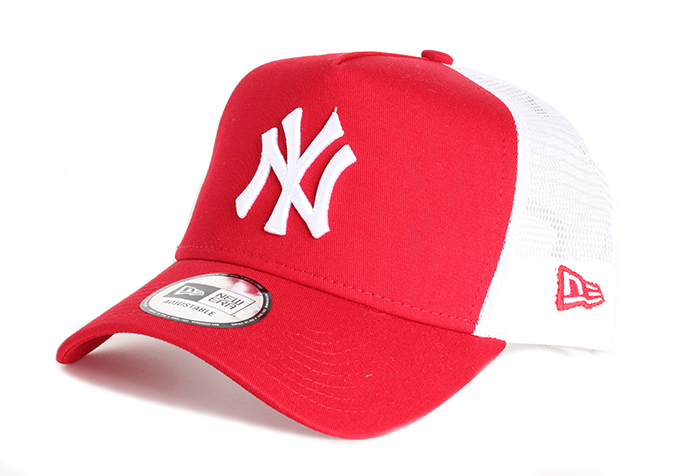 New Era NY Yankees Clean A Frame Trucker Red   White - Boardvillage 462b050241