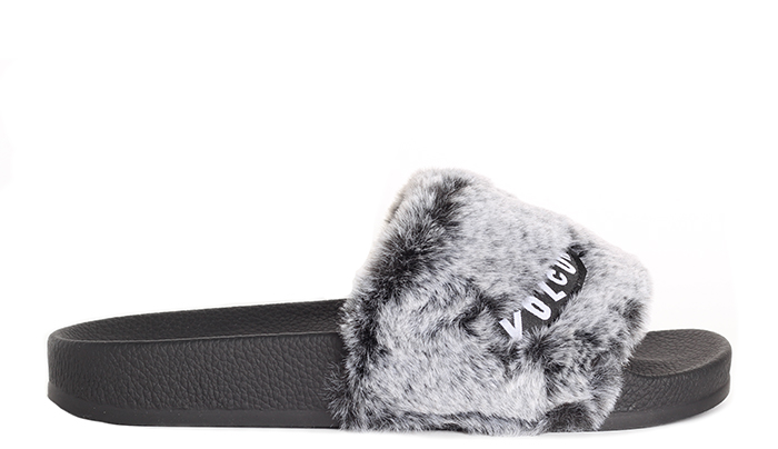 Volcom Womens Lil Slides Heather Grey