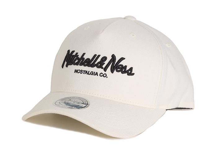 Mitchell & Ness Pinscript 110 Snapback Off White