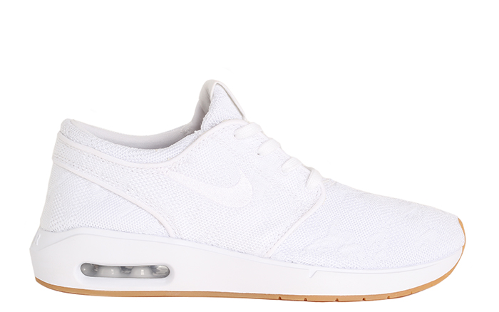 e4198278e346 Nike SB Air Max Janoski 2 White   White - Gum Yellow - Boardvillage