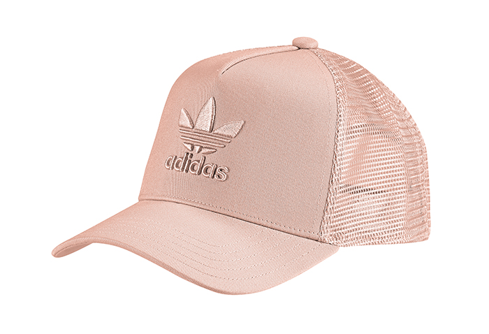 786acaced80ae Adidas Originals A-Frame Trefoil Trucker Cap Dust Pink - Boardvillage