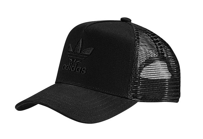 0bac93ec5d3 Adidas Originals A-Frame Trefoil Trucker Cap Black   Black ...