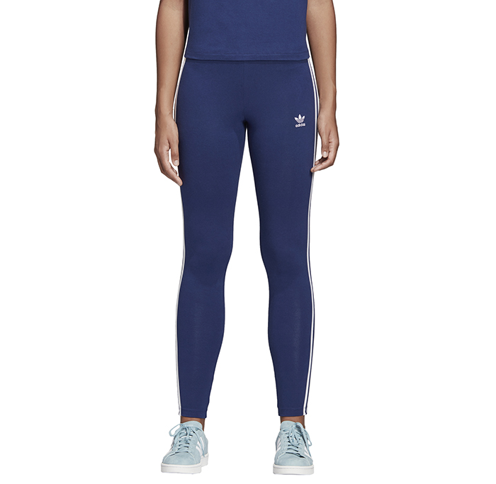 148c5838769d1f Adidas Originals Womens 3 Stripes Leggings Dark Blue - Boardvillage
