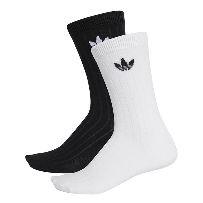Adidas Originals Mid Ribbed Crew Socks 2-Pack