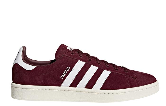 Adidas Campus Collegiate Burgundy / Footwear White / Chalk White